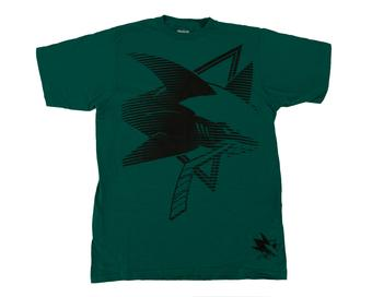 San Joes Sharks Reebok Teal The New SLD Tee Shirt (Adult M)