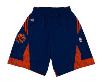 New York Knicks Adidas Blue Pre Game Basketball Shorts (Adult L)