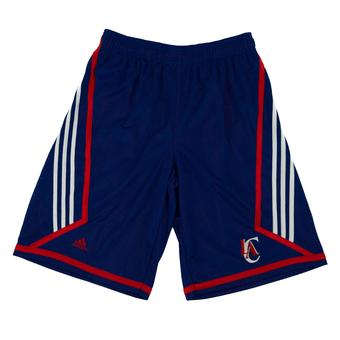 Los Angeles Clippers Adidas Blue 3 Stripe Basketball Shorts (Adult XL)
