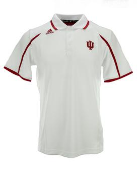 Indiana Hoosiers Adidas White Climalite Performance Polo (Adult XL)