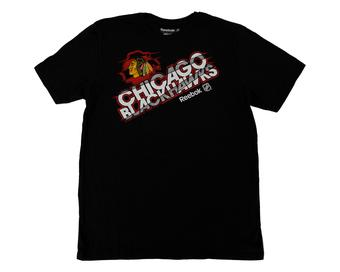 Chicago Blackhawks Reebok New SLD Black Tee Shirt