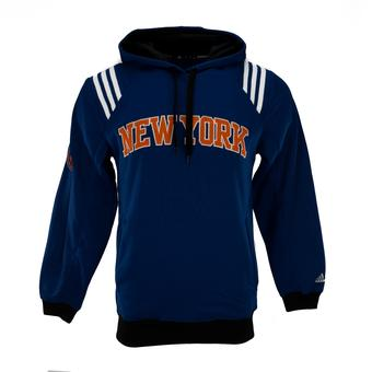 New York Knicks Adidas Blue Fleece Pullover Hoodie (Adult M)