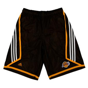 Los Angeles Lakers Adidas Black 3 Stripe Basketball Shorts (Adult M)