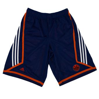 New York Knicks Adidas Blue 3 Stripe Basketball Shorts (Adult L)