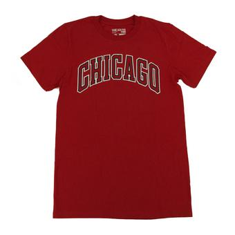 Chicago Bulls Adidas Red The Go To Tee Shirt (Adult L)