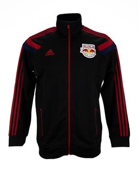 New York Red Bull Adidas Black Anthem Performance Full Zip Track Jacket (Adult L)