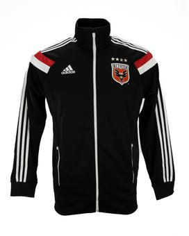 D.C. United Adidas Black Anthem Performance Full Zip Track Jacket (Adult S)