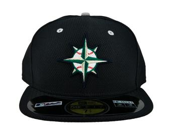 Seattle Mariners New Era Navy Diamond Era 59Fifty Fitted Hat (7 1/4)