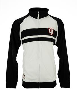 Indiana Hoosiers Adidas Black & White Full Zip Track Jacket (Adult XL)