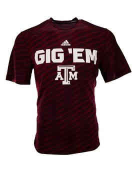 Texas A&M Aggies Adidas Maroon Climalite Performance Tee Shirt (Adult L)