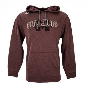 Mississippi State Bulldogs Adidas Heather Maroon Climawarm Ultimate Hoodie (Adult S)