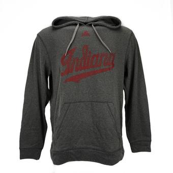 Indiana Hoosiers Adidas Gray Climawarm Performance Ultimate Fleece Hoodie