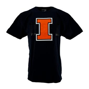 Illinois Fighting Illini Adidas Navy The Go To Tee Shirt (Adult XL)