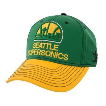 Seattle Supersonics Adidas Green Throwback Structured Flex Fit Hat (Adult L/XL)