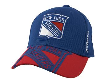 New York Rangers Reebok Blue Center Ice Structured Flex Fit Hat