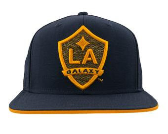 Los Angeles Galaxy Adidas Navy Flat Brim Snapback Hat (Adult OSFA)