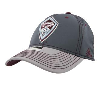 Colorado Rapids SC Adidas Gray Two Tone Structured Flex Fit Hat (Adult L/XL)