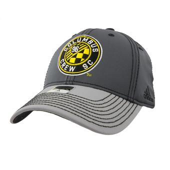 Columbus Crew SC Adidas Gray Two Tone Structured Flex Fit Hat (Adult S/M)