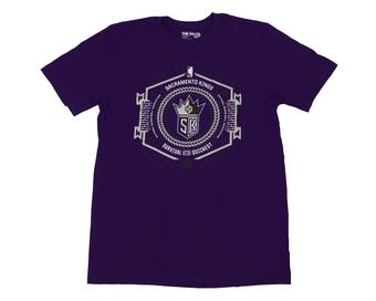 Sacramento Kings Adidas Purple The Go To Tee Shirt (Adult M)
