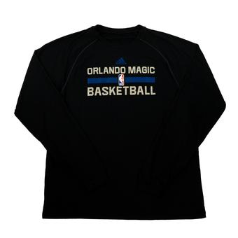 Orlando Magic Adidas Black Practice Climalite Performance Long Sleeve Tee Shirt (Adult M)