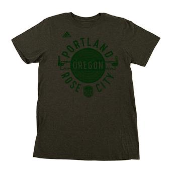 Portland Timbers Adidas The Go To Grey Dual Blend Tee Shirt (Adult XL)