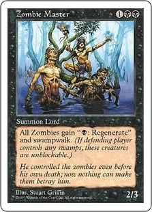 Magic the Gathering 5th Edition Single Zombie Master - NEAR MINT (NM)