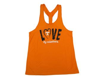 Tennessee Volunteers Colosseum Womens Orange Sequel Knot Dual Blend Tank Top (Womens L)