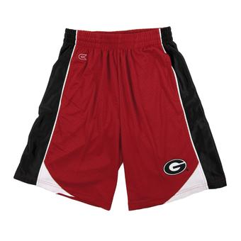 Georgia Bulldogs Colosseum Red Vector Mesh Shorts (Adult XL)