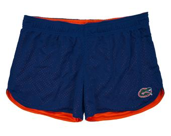 Florida Gators Colosseum Womens Reversible Blue Twist Mesh Shorts (Womens L)