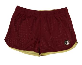 Florida State Seminoles Colosseum Womens Maroon Reversible Twist Mesh Shorts (Womens L)