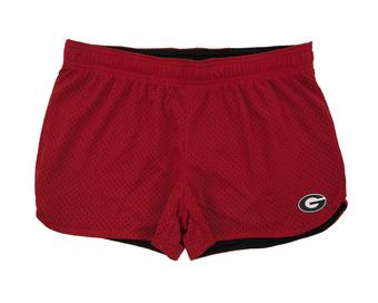 Georgia Bulldogs Colosseum Womens Reversible Red Twist Mesh Shorts (Womens S)