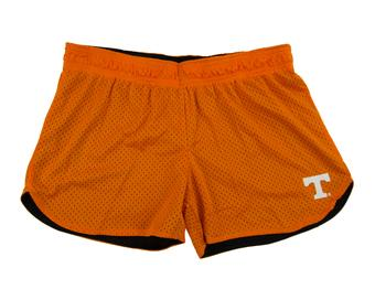 Tennessee Volunteers Colosseum Womens Orange Reversible Twist Mesh Shorts (Womens L)
