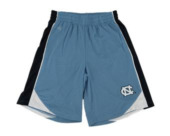 North Carolina Tar Heels Colosseum Baby Blue & Navy Vector Mesh Shorts (Adult M)