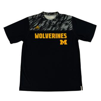 Michigan Wolverines Adidas Navy Climalite Performance Tee Shirt (Adult S)