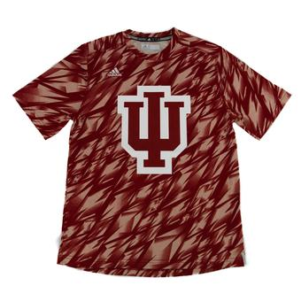 Indiana Hoosiers Adidas Red Climalite Performance Training Tee Shirt (Adult M)