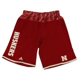 Nebraska Cornhuskers Adidas Red Player Performance Shorts (Adult M)