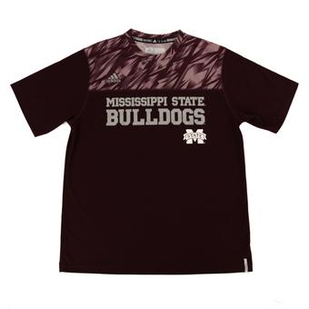 Mississippi State Bulldogs Adidas Maroon Climalite Performance Tee Shirt (Adult XXL)