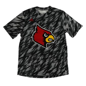 Louisville Cardinals Adidas Black Climalite Performance Training Tee Shirt
