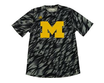 Michigan Wolverines Adidas Navy Climalite Performance Training Tee Shirt (Adult L)