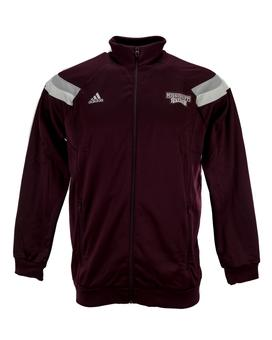Mississippi State Bulldogs Adidas Maroon Anthem Performance Full Zip Track Jacket (Adult M)