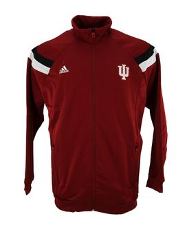 Indiana Hoosiers Adidas Red Anthem Performance Full Zip Track Jacket