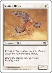 Magic the Gathering 8th Edition Single Suntail Hawk Foil