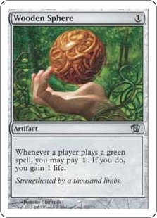 Magic the Gathering 8th Edition Single Wooden Sphere FOIL