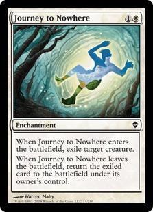 Magic the Gathering Zendikar Single Journey to Nowhere Foil