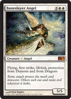 Magic the Gathering 2011 Single Baneslayer Angel - SLIGHT PLAY (SP)