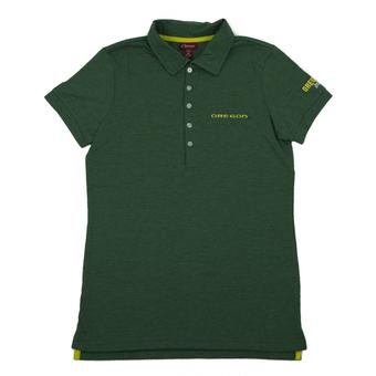 Oregon Ducks Colosseum Green Delta Dual Blend Polo (Womens L)