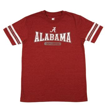 Alabama Crimson Tide Colosseum Red Youth Thunderbird Tee Shirt (Youth M)