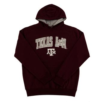 Texas A&M Aggies Colosseum Maroon Zone Pullover Fleece Hoodie (Adult L)