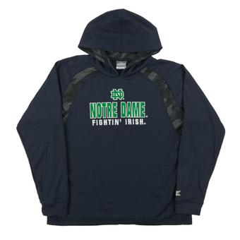 Notre Dame Colosseum Navy Lift Performance Fleece Hoodie (Youth Large)