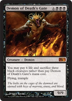 Magic the Gathering 2011 Single Demon of Death's Gate Foil